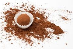 Trufa de chocolate Imagen de archivo libre de regalías