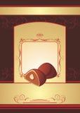Trufa de chocolate. Fundo para envolver Imagem de Stock