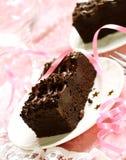 Trufa de la torta con el chocolate negro Imagenes de archivo