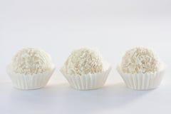 Trufas brancas do coco Imagens de Stock
