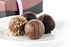Trufas de chocolate Foto de archivo