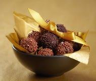 Trufas de chocolate fotos de archivo libres de regalías