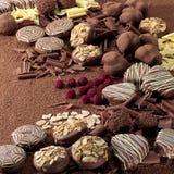 Trufas de chocolate Imagem de Stock