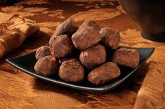 Trufas de chocolate Imagen de archivo