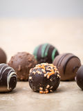 Trufas de chocolate Imagen de archivo libre de regalías