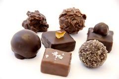 Trufas de chocolate Imagenes de archivo