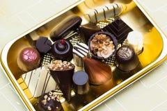 Trufas de chocolate Fotografia de Stock