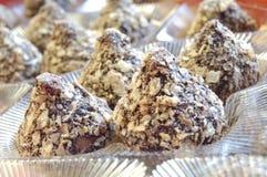 Trufas de chocolate Foto de Stock Royalty Free