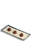 Trufas de chocolate imagens de stock