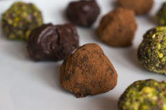 Trufas de chocolate Foto de archivo libre de regalías