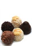 Trufas de chocolate Fotografía de archivo