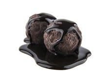 Trufas de chocolate Fotografía de archivo libre de regalías