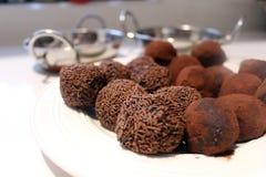 Trufas de chocolate fotos de stock