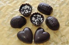 Trufas de chocolate clasificadas Fotos de archivo