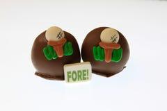 Trufas de chocolate do golfe Imagens de Stock