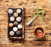 Trufas de chocolate do vegetariano Imagem de Stock