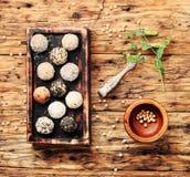 Trufas de chocolate do vegetariano Imagem de Stock