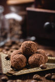 Trufas de chocolate hechas en casa Imagenes de archivo