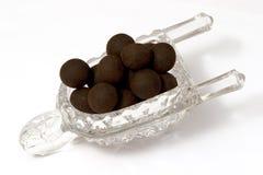 Trufas de chocolate oscuras fotografía de archivo libre de regalías
