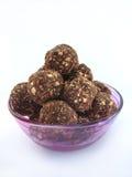 Trufas de chocolate saudáveis Imagens de Stock Royalty Free