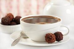 Trufas del café y de chocolate imágenes de archivo libres de regalías