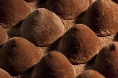 Trufas del caramelo de chocolate Foto de archivo