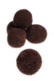 Trufas do rum do chocolate Fotos de Stock Royalty Free