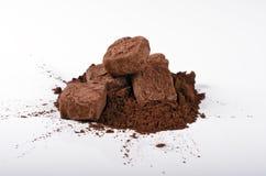 Trufas y cacao Foto de archivo