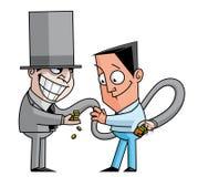 Truffatore del banchiere illustrazione di stock