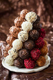 Truffe de chocolat image stock