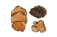 Truffe noire coupée en tranches Image stock