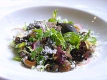 truffe noire de salade de champignon de couche Image libre de droits