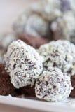 巧克力truffels 免版税库存图片