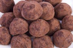 truffes плиты шоколада стоковые фотографии rf