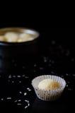 Truffes blanches de chocolat et de noix de coco Photographie stock libre de droits