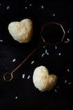 Truffes blanches de chocolat et de noix de coco Images libres de droits
