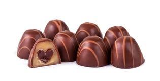 Truffes de chocolat photo stock