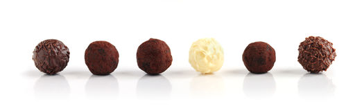Truffes de chocolat Photos libres de droits