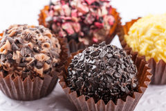Truffes de chocolat Photographie stock libre de droits