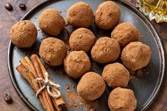 Truffes de chocolat Photos stock