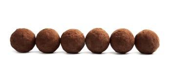 Truffes de chocolat crues délicieuses photo stock