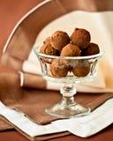 Truffes de chocolat délicieuses Photographie stock libre de droits