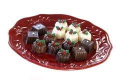 Truffes de chocolat de Noël photographie stock libre de droits