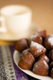 Truffes de chocolat DOF peu profond Images libres de droits