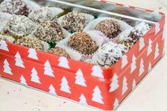 Truffes de chocolat faites maison Photos stock