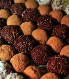 Truffes fabriquées à la main gastronomes Photographie stock libre de droits