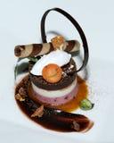 Truffle chocolate cake Stock Photo