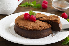 Truffle chocolate cake Stock Images
