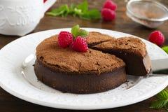 Truffle chocolate cake Stock Images