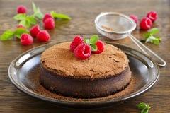 Truffle chocolate cake Royalty Free Stock Images